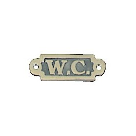 "W.C."" MESSINKIKYLTTI 95x32MM"""